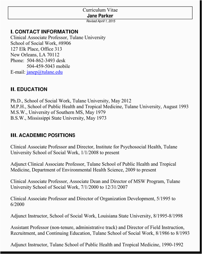 cv examples for social worker jobs