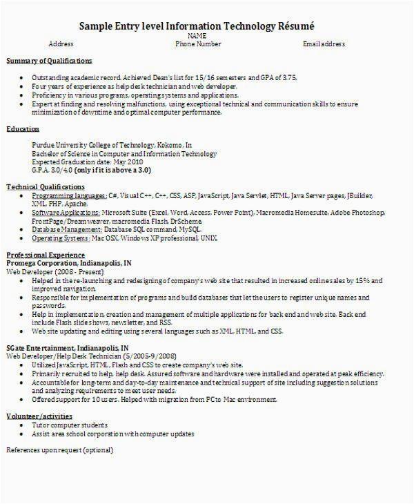 sample resume for web developer fresher