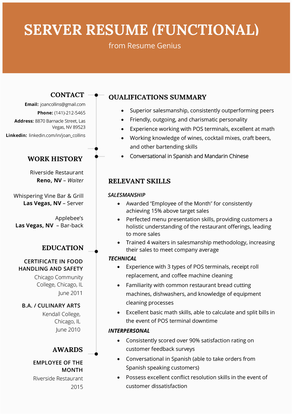 Sample Resume with Summary Of Qualifications format How to Write A Qualifications Summary