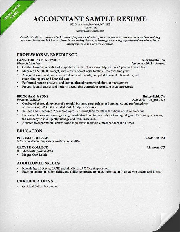 finance resume sample templates