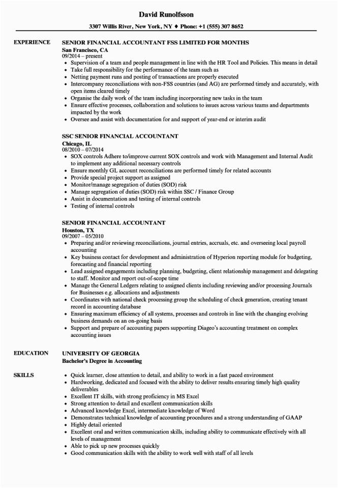 sr accountant resume