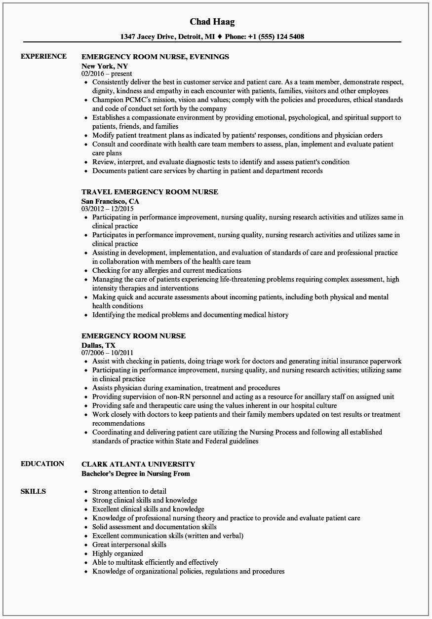 experienced rn resume sample