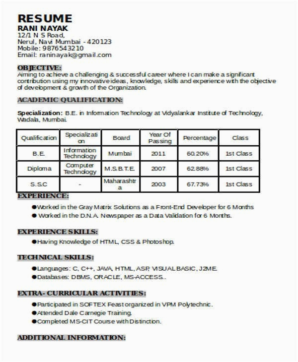 resume template for 1 year experience 1 unconventional knowledge about resume template for 1 year experience that you cant learn from books