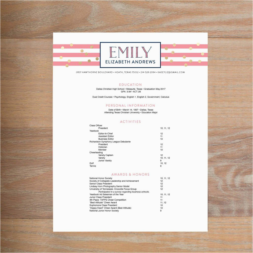 Sample social Resume for sorority Rush What to Include On A sorority Resume