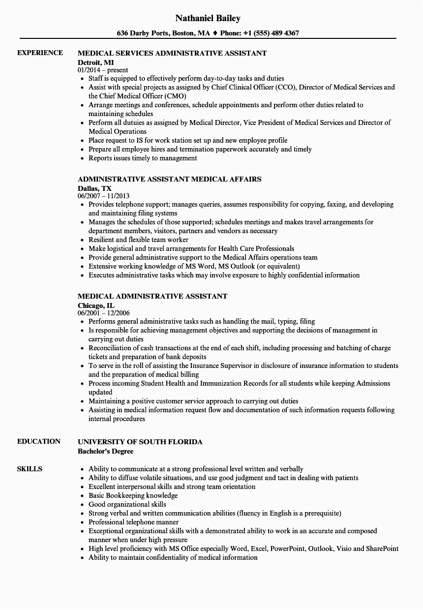Medical Office Administrative assistant Resume Sample Resume Objective Medical Administrative assistant top 22