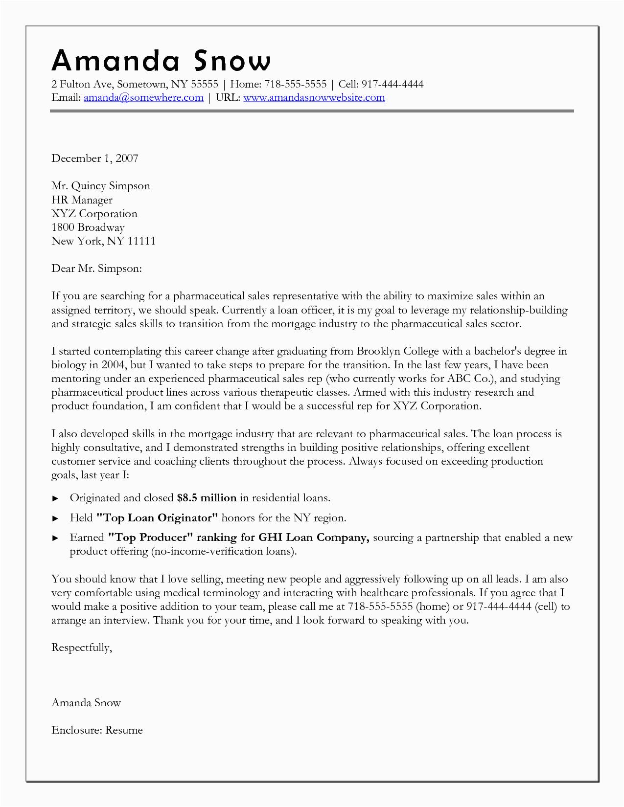 Sample Career Change Resume Cover Letter 10 Sample Of Career Change Cover Letter