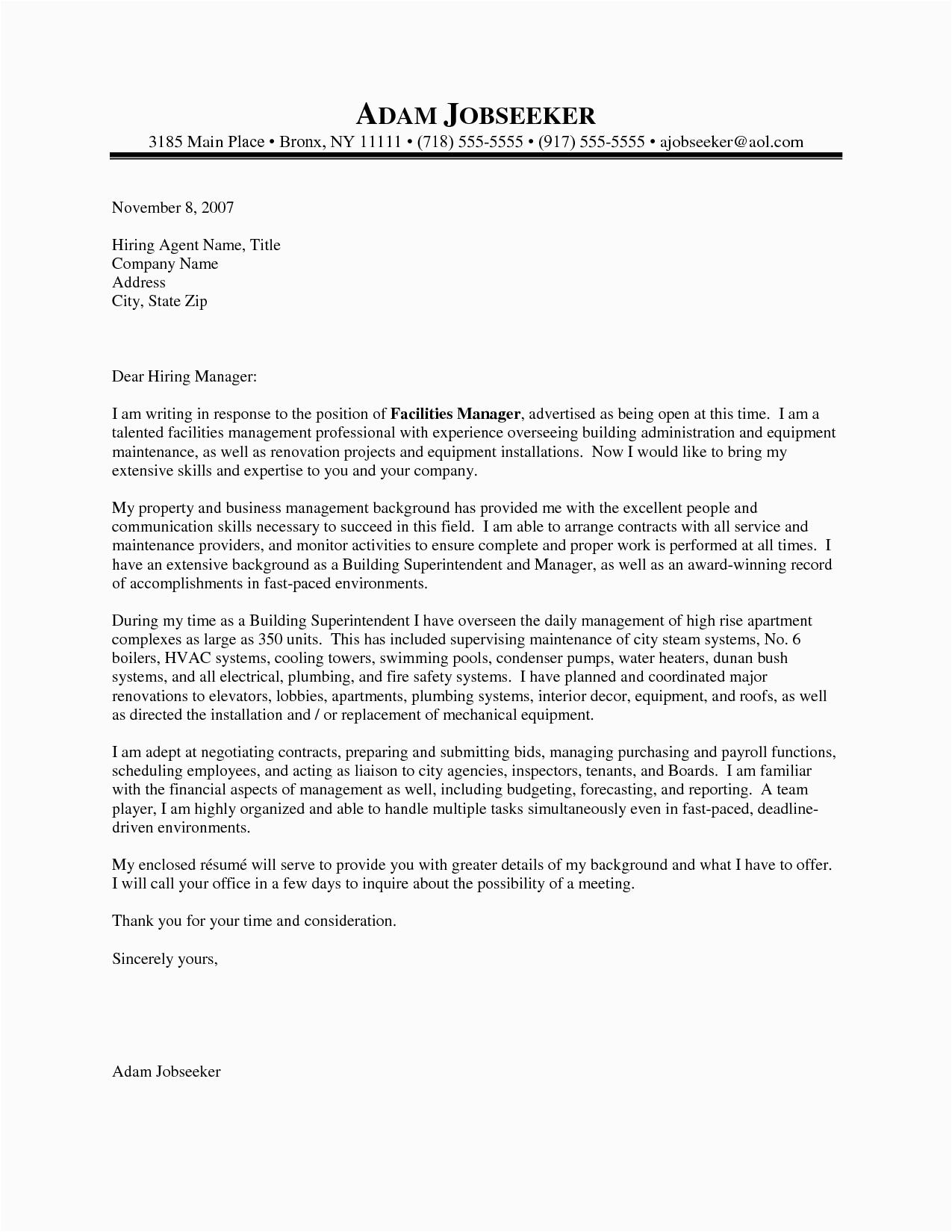 Sample Resume Cover Letter for Supervisor Position Cover Letter for Supervisor Position
