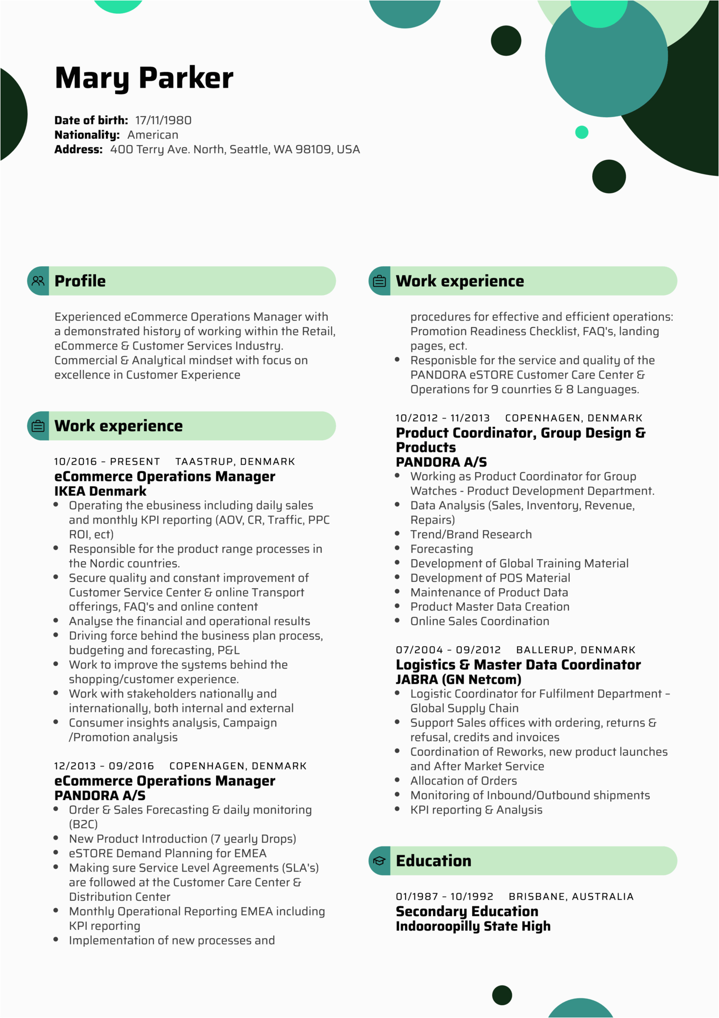 Sample Resume for Ecommerce Operations Manager Resume Examples by Real People Ikea E Merce Operations