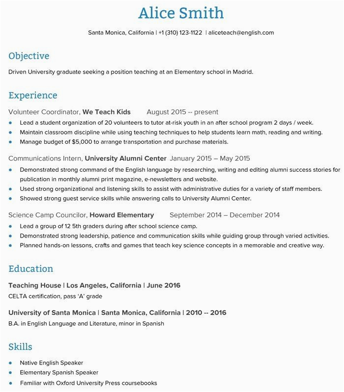 Sample Resume for English Teacher with No Experience 23 Teaching Job Description Resume In 2020 with Images