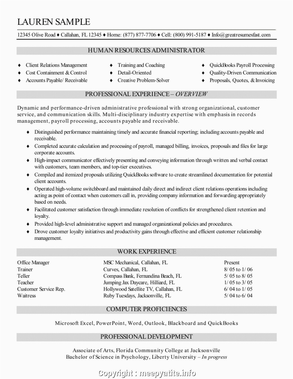 Sample Resume for Experienced Hr Recruiter Print Resume format for Experienced Hr Recruiter Great