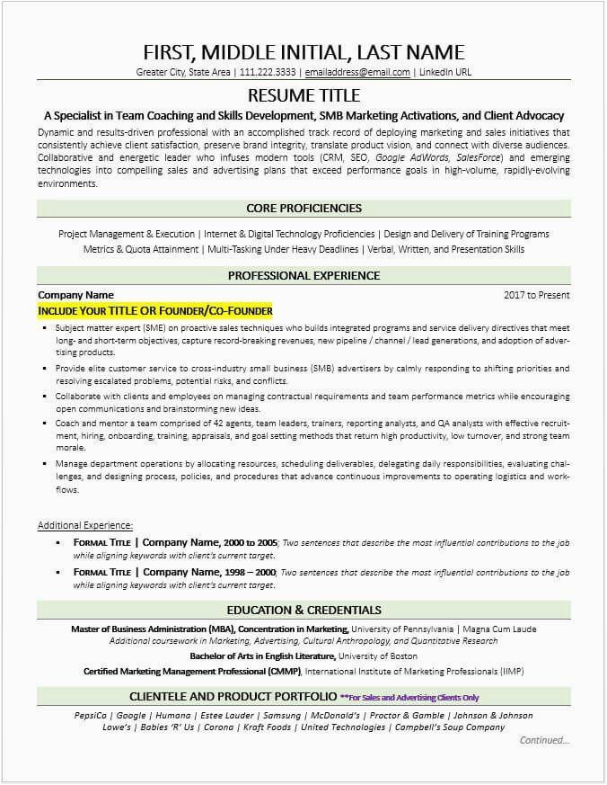 Sample Resume for former Entrepreneurs Business Owners former Business Owner Resume Example and Tips Updated
