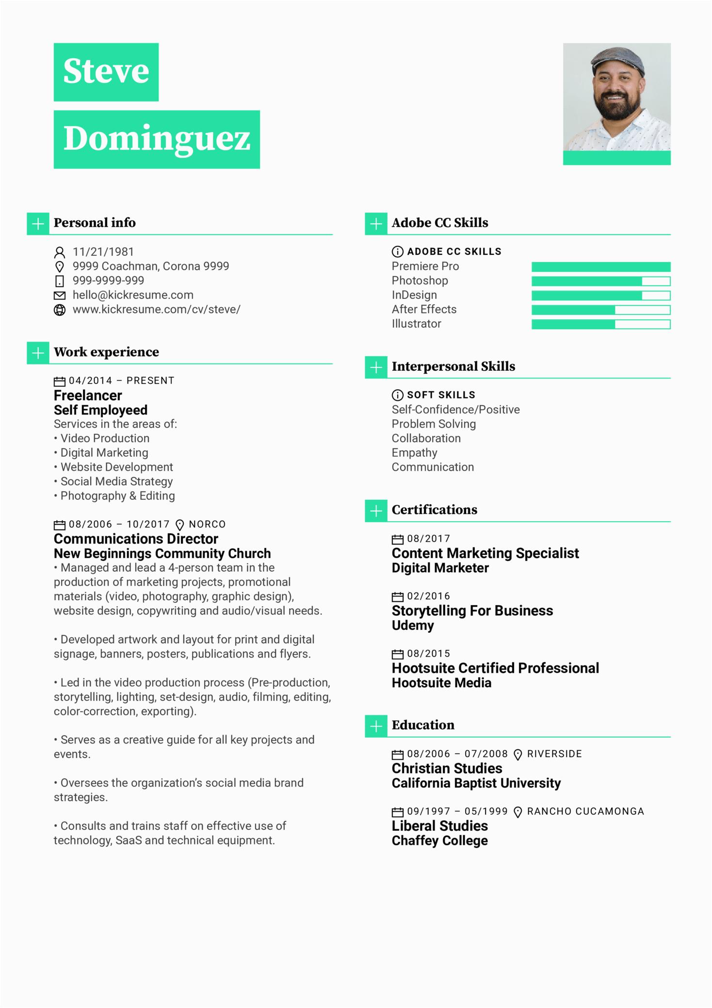 graphic designer resume sample