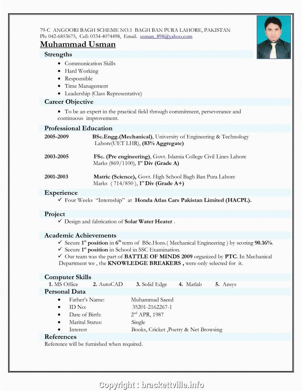 executive hr resume format doc