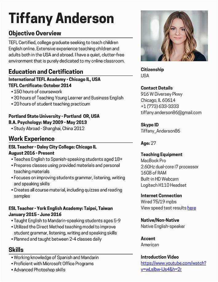 Sample Resume for Online English Tutor without Experience Sample Resume for Teachers without Experience Free