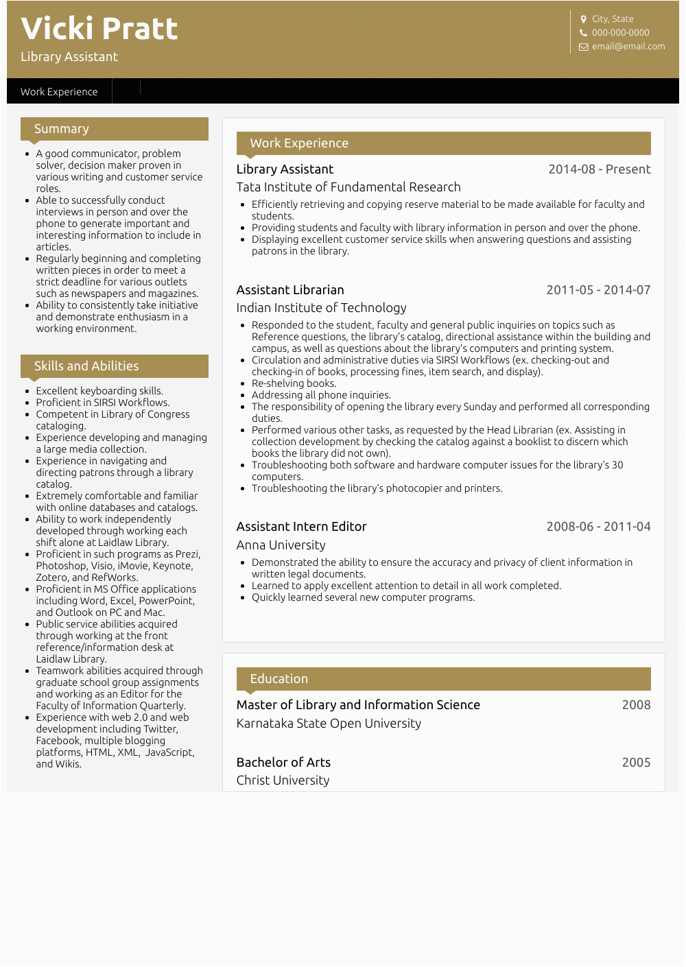 Sample Resume for Student Library assistant Library assistant Resume Samples and Templates