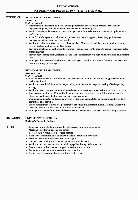 Sample Resume Regional Sales Manager India Regional Sales Manager Resume Samples
